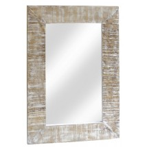 Mirror Wooden White Wash Color 120x90